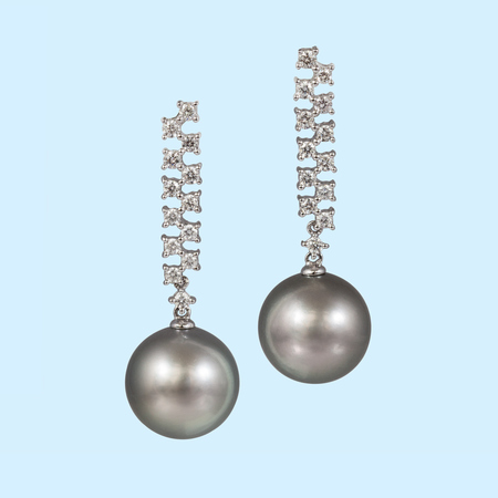 Tahitian Pearl Earrings - 12.5mm